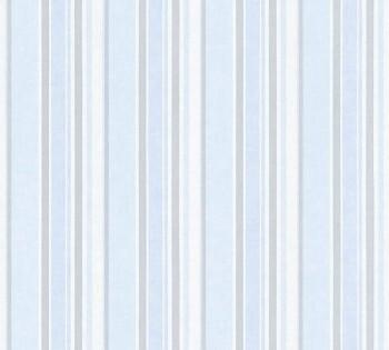Vlies Tapete Baby-Blau Streifen