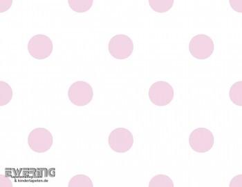 Rosa Punktetapete Mädchenzimmer