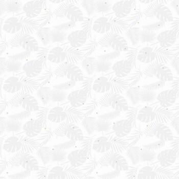 Weiß Blätter Tapete Grau