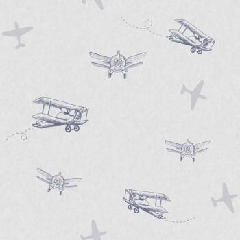 Tapete Hell-Lila Flugzeug