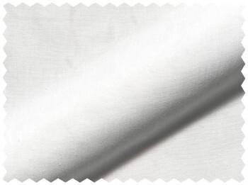 Weiß Uni Stoff Halb-Transparent