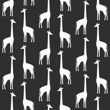 Tapete Schwarz Giraffen