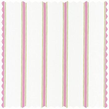 Dekostoff Grün Pink Streifen