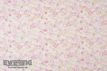 Rosa Dekostoff Blumen