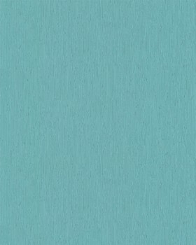 Vliestapete Petrol-Blau Streifen Uni