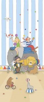 Wandbild Bunt Zirkus Vlies