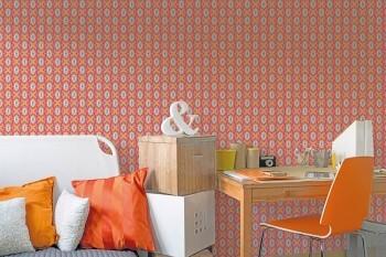 Wandbild Blumen Orange Pink Portraits