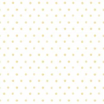 Punkte Gelb Vliestapete