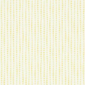 Gelb Dreiecke Muster-Tapete Papier