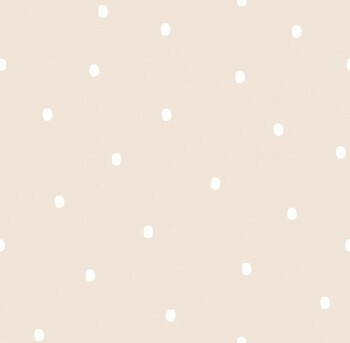 Tapete Papier Creme Farbtupfer Weiß Ohlala 336030