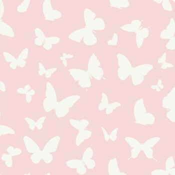 Tapete Schmetterlinge Rosa