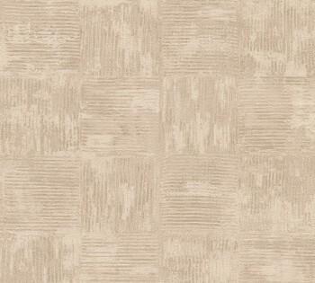 AS Creation Saffiano 33989-2, 339892 Vliestapete beige Quadrate