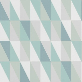 Vliestapete Mint Grau Grafisches Muster