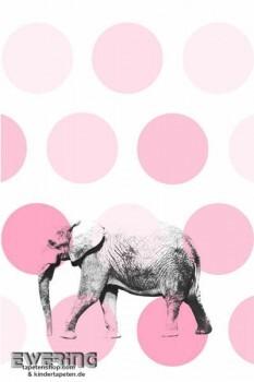Wandbild Rosa Elefant