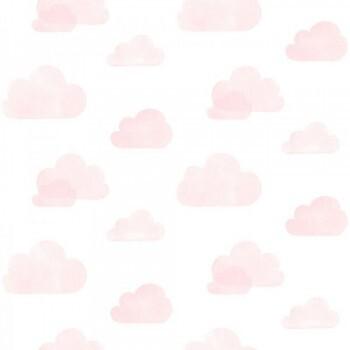 Vliestapete Wolken Rosa