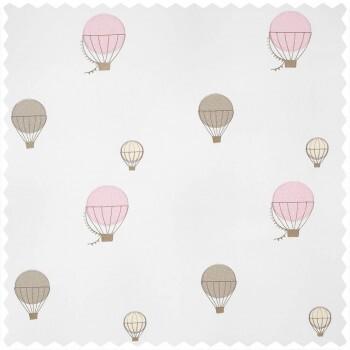 Dekostoff Heißluftballons rosa