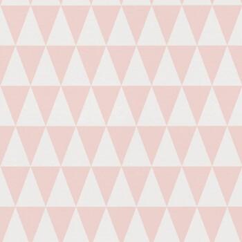 Vliestapete Dreiecke Rosa
