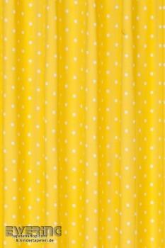 Gardine Punkte Gelb Fertigdeko