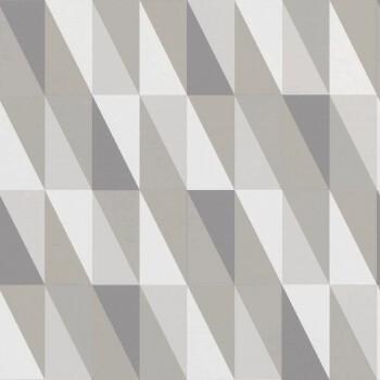 Vliestapete Grafisches Muster Grau Beige
