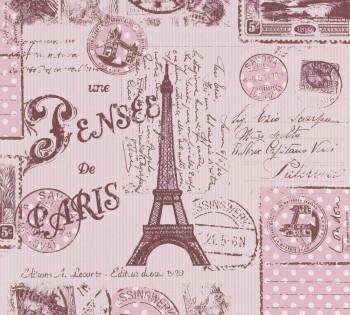 wallpaper pink stamps