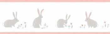 Kaninchen Borte Weiß Rosa