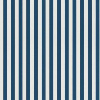 Dunkel-Blau Streifen Vlies Tapete