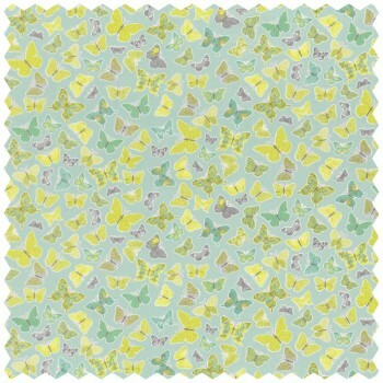 Stoff Schmetterling Grün