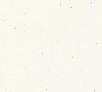 Tapete Lila-Weiße Punkte