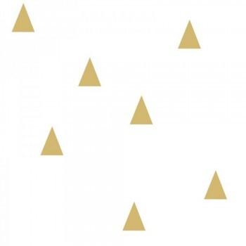Vliestapete Gold Dreiecke