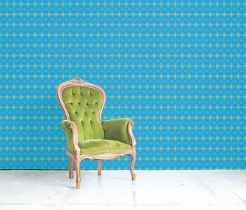 Wandbild Blau Grafisches Karomuster