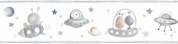 Borte Weiß Blau-Graue Ufos Aliens Weltall Ohlala 034543
