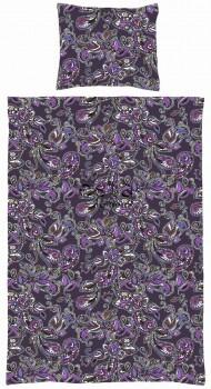 Bettwäscheset Funky Blumen Paisleys Lila
