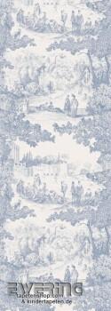Casadeco - Chantilly 36-CHT24236118 blau Wandbild Toile de Jouy