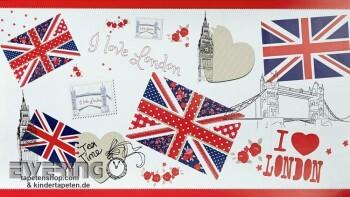 London Papierborte Rot