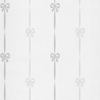 Grau Braun Schleifen Vliestapete