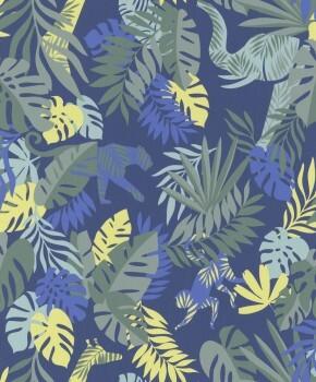 Vliestapete Dschungel Blau
