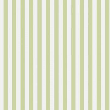 Grün Weiß Vlies Streifen Tapete