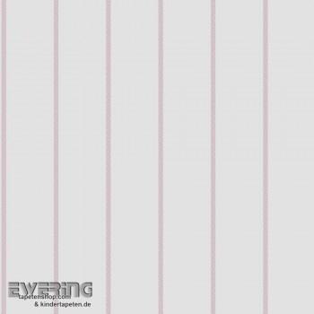 Streifen Weiß Mädchen Papier-Tapete