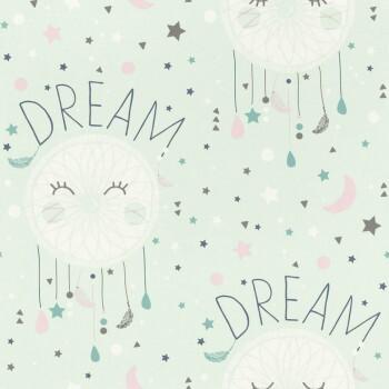 Mint-Grün Tapete Traumfänger Dream