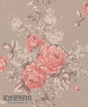 Rasch Textil Cassata 23-077574 taupe Textiltapete Blumenranken