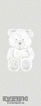 Papiertapete Wandbild Teddybär Beige