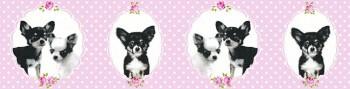 Borte Vlies Rosa Punkte Hunde