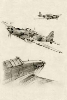 Wandbild Flugzeuge Xl