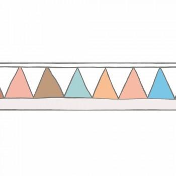 Borte Vlies Dreiecke Rosa Blau Orange