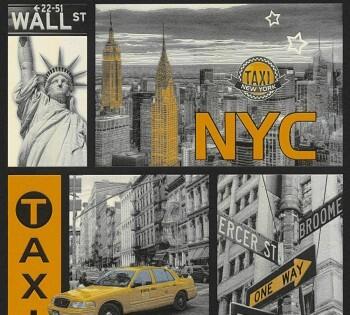 Tapete Gelb Grau New York