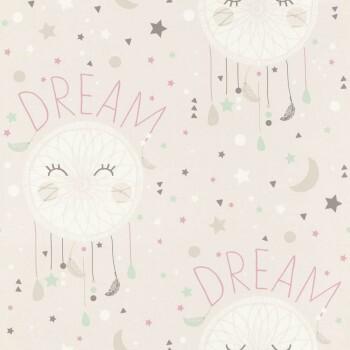 Tapete Dream Traumfänger Beige-Grau