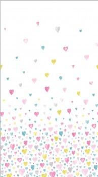 Herzen Stoff-Paneel Rosa