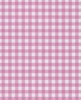 Karomuster Vliestapete Pink Mädchen