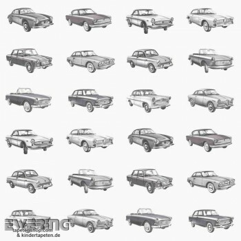 Autos Vliestapete Weiß