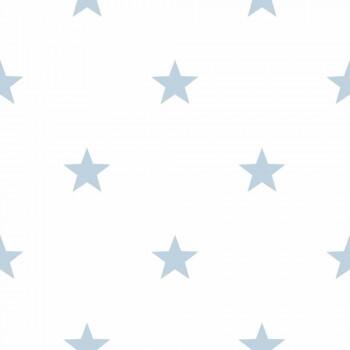 Kind Vlies Tapete Sterne Baby-Blau _L